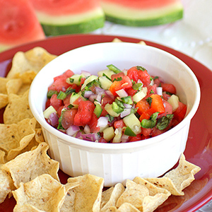 image of fresh watermelon salsa