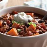 sweet potato and black bean chili