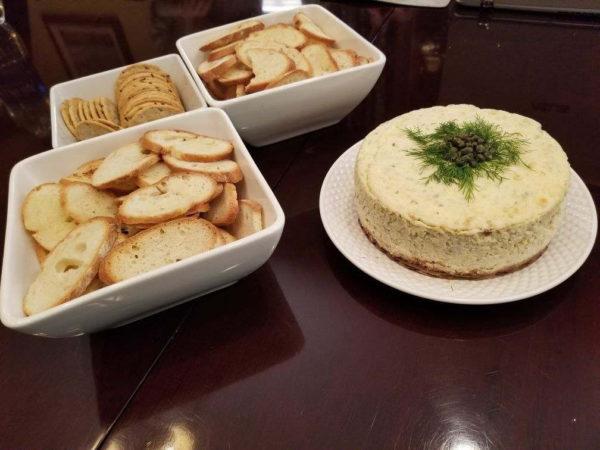 Savory Salmon Cheesecake