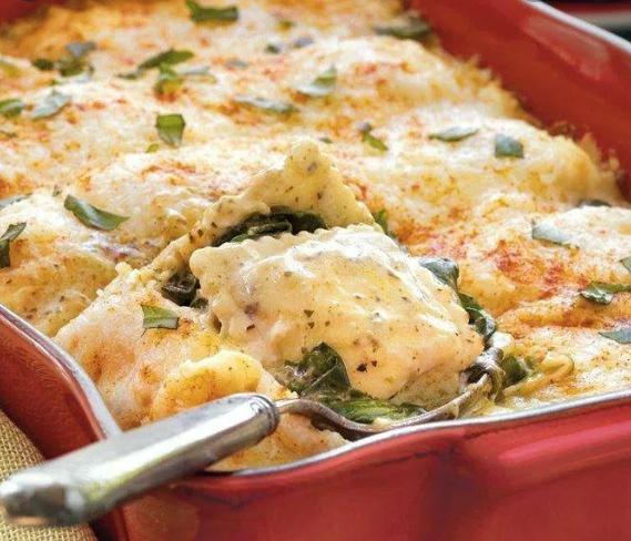 Spinach Ravioli Lasagna (Vegetarian)
