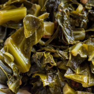 Honey Apple Cider Collards