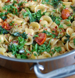 Kale Broccoli Chickpea Pasta