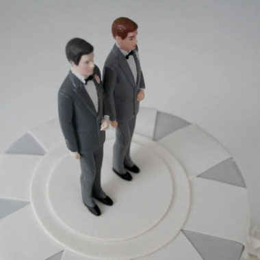 LGBT groom cake topper