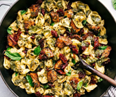 Chicken Tortellini with Collard Green Pesto