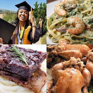 Cap and Gown Graduation Menu