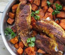 Tilapia Sweet Potato Black Beans