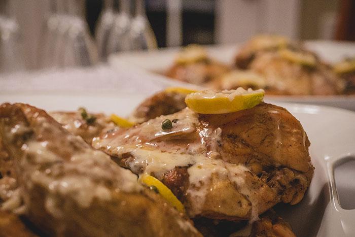 Free-range Roasted Chicken in Lemon Garlic Beurre Blanc Sauce